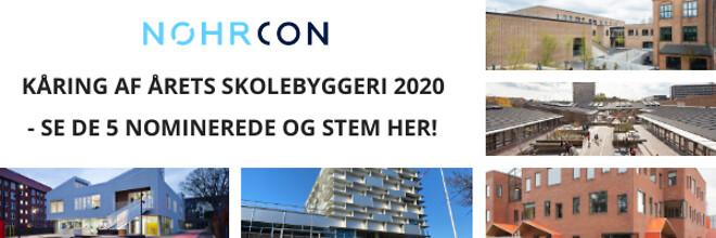 Kåring af Årets skolebyggeri 2020 - Nohrcon