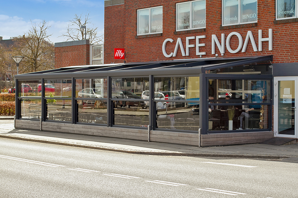 Unik overdækning til cafeens gæster - Building Supply DK