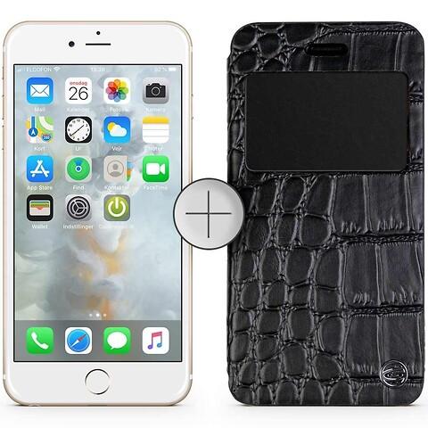Apple iphone 6 16GB (guld) - grade c - gratis krokodilleskindscover - mobiltelefon