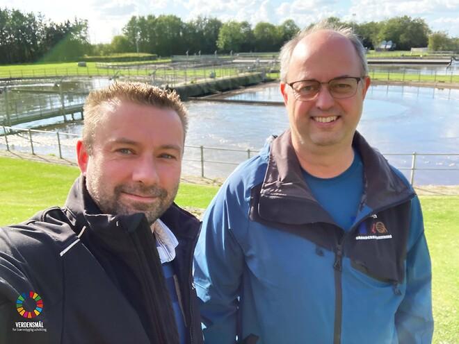 Koordinator Carsten Sørensen fra Brønderslev Forsyning (t.h.) og teknisk projektleder Paw Landgrebe Rasmussen fra SoftControl (t.v)