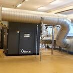 Kanalansluten turboblåsmaskin från Atlas Copco