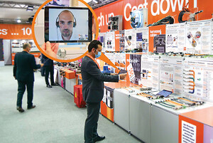 The igus trade show stand can be explored virtually, on your own or together with a consultant. Making an appointment is particularly easy, the consultation is efficient and individual, emphasise the visitors so far. (Source: igus GmbH)