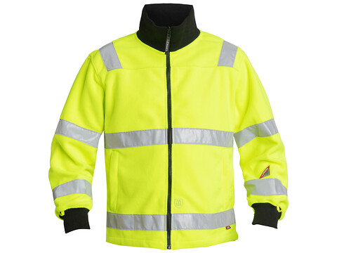 Fleecejakke SAFETY EN 471 GUL - STR. 3XL