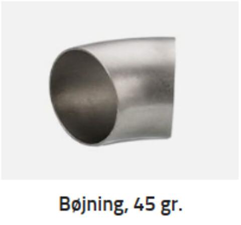 INOX A/S produktnyhed - industribøjninger i 45 grader