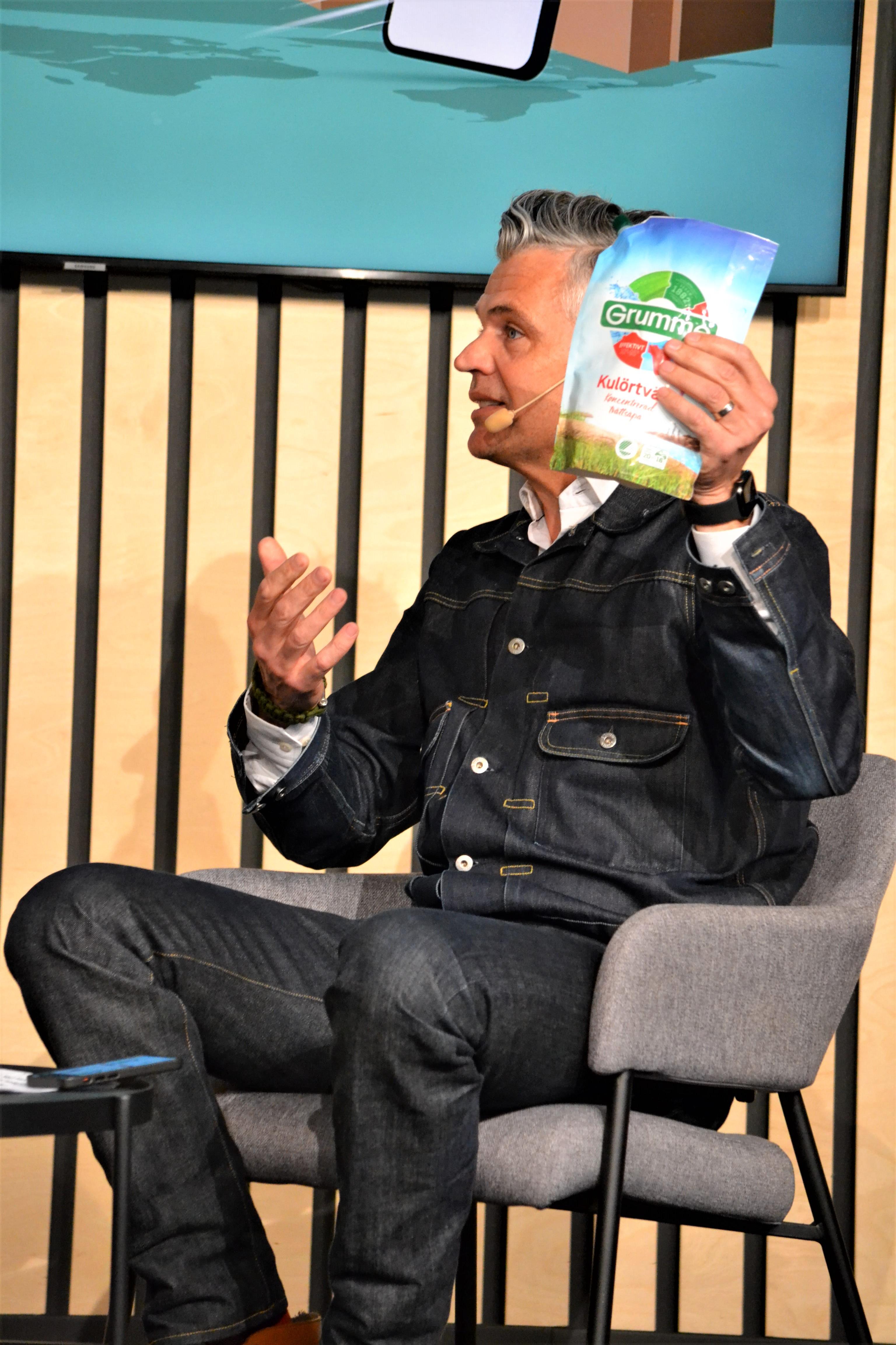 André Hindersson från Designbyrån Silver talade om förpackningens som kommunikationskanal.