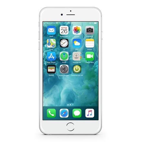 Apple iphone 6S 128GB (sølv) - grade b - mobiltelefon