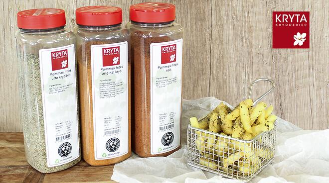 Pommes frites, pommes, krydderier, krydderi blanding, Kryta,