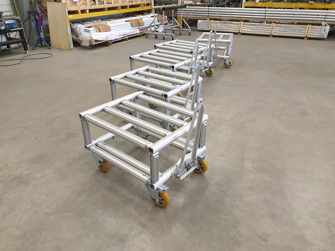 vagn, hjul, aluminium, hantag, produktion, lean, effektivitet