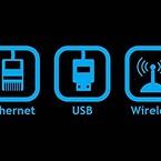 Nettverks tilkobling, USB eller trådløs kommunikasjon