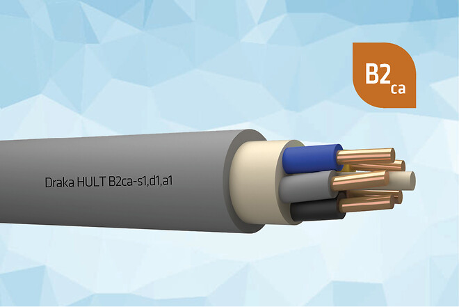 Draka HULT 1kV installationskabel med B2ca godkendelse