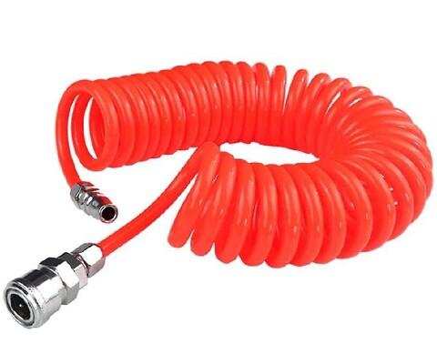 Grunda trykluft spiralslange PU 6,5x10mm 4m - Grunda trykluft spiralslange PU 6,5x10mm 4m