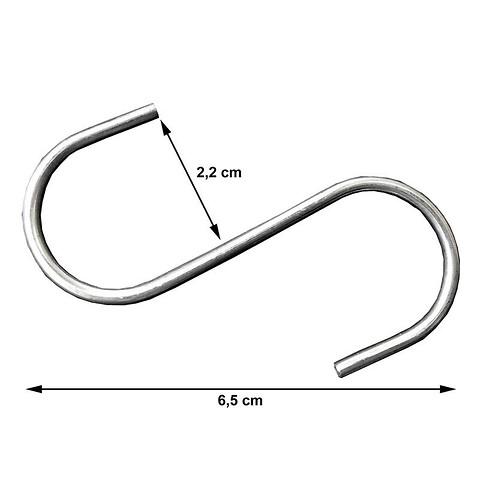 S-kroge 100stk. pose, Åbning 2cm