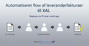 leverandørfaktura workflow XAL