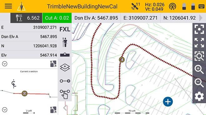 Trimble landmåling Siteworks software