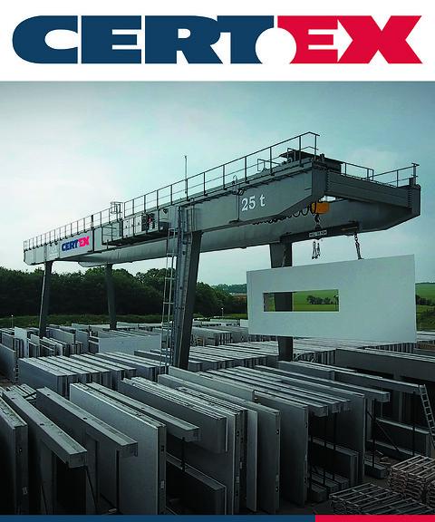 Portalkraner og halvportalkraner - CERTEX-GH Portalkran på betonfabrik