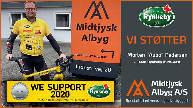 #midtjyskalbyg støtter #TeamRynkeby