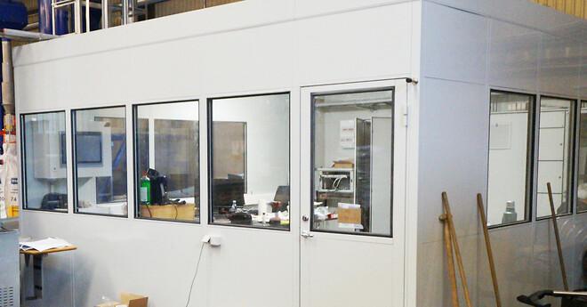 støjisoleret modulkontor giver behageligt indeklima på fabrikken
