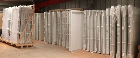 Ståldøre på standardmål til omgående levering fra lager