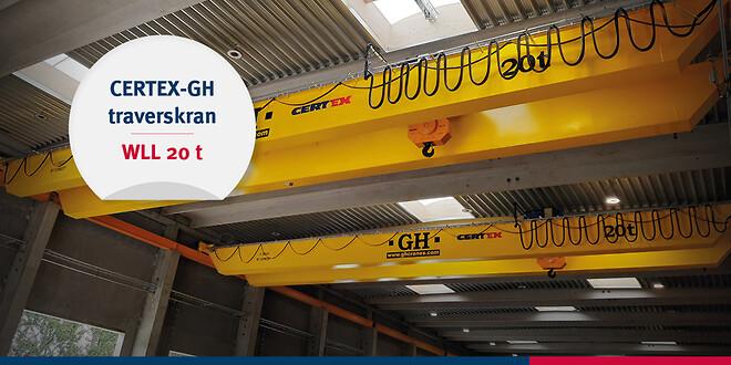 20-tons CERTEX-GH traverskran