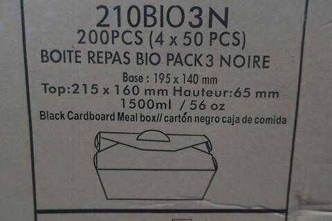 400 stk. sort måltidsboks firstpack 210BIO3N