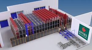 Fuldautomatisk lager med 575 pallepladser