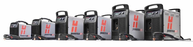 Hypertherm Powermax skæremaskine. Helt familien.