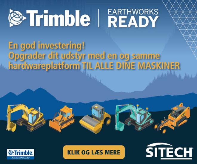 Trimble Earthworks maskinstyring