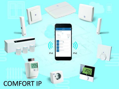 COMFORT IP gulvvarmestyring - telestatstyring på zone 1.