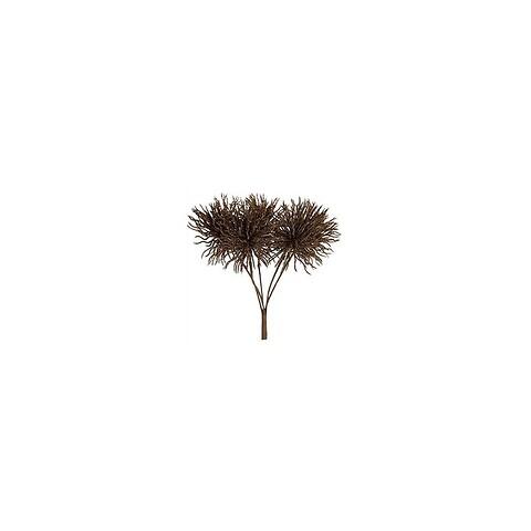 Tidsel buket, brun, 30cm, kunstig blomst