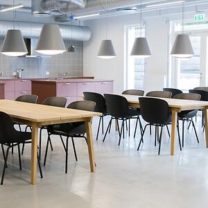 indretning kollegium fællesområder fælleskøkkener erhverv møbler