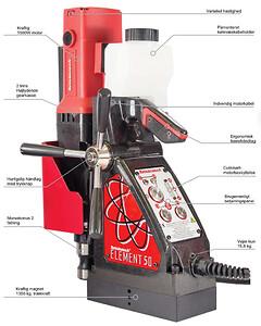 Rotabroach Magnetboremaskine Element 50 med smart cut teknologi