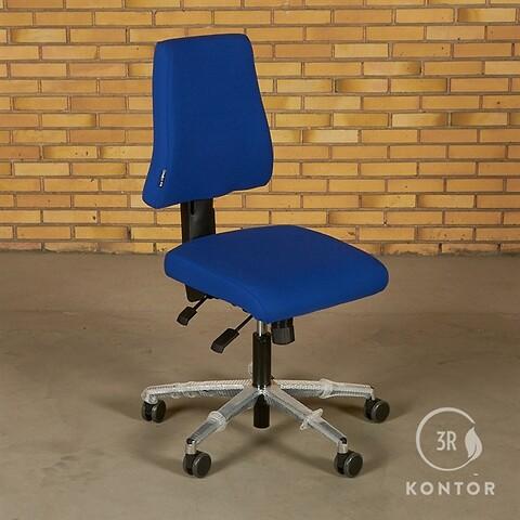 Duba B8 sola kontorstol i blåt stof.