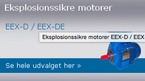 Eksplosionssikre motorer fra DM Motors