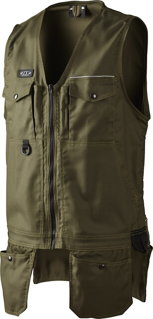 Outlet - arbejdsvest, canvas, 1512 - army