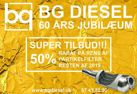 Jubilæumspris - 50% på rens af partikelfilter i 2019