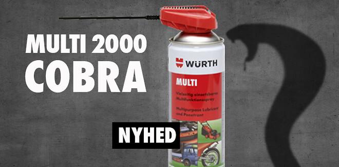 Multi 2000 Cobra kan med den nye spraydyse sprayes koncentreret eller bredt.