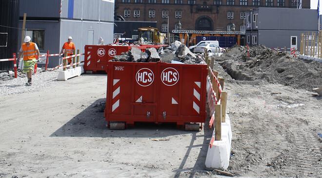 HCS tilbyder alle former for byggepladscontainere