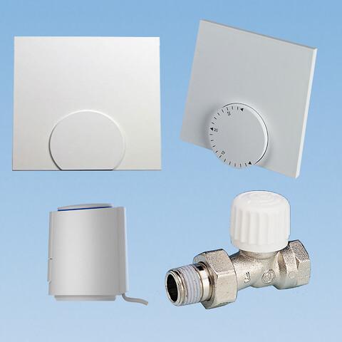 """Nem styringspakke til 1-kreds Pettinaroli gulvvarme inkl. 1/2"""" ventil  - Med en styringspakke fra Pettinaroli til 1-kreds kan du få regulering af gulvvarme hurtigt og nemt for eksempel på badeværelset"""