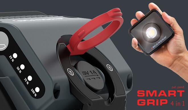 NOVA MINI er en ny kompakt arbejdslampe med et unikt SMART GRIP 4-in-1 system