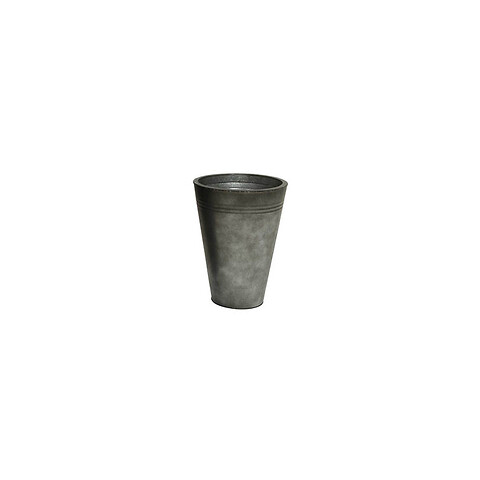Zink krukke, antik mørk grå, rund, 40cm