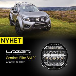 "Lazer Sentiel Elite LED extraljus 9\"""