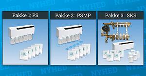 Pettinaroli har sammensat 3 gulvvarmepakker til COMFORT IP gulvvarmesystemet, som kan bestilles på et vvs-nr.