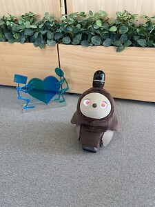 Den sociale robot er igen at se i Centrets udstilling