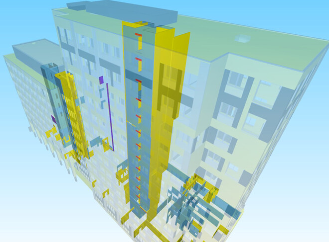 Det der i dag laves i 2D, dvs. mængdeberegninger, udarbejdelse af montageplaner osv., vil fremover kunne gøres ved hjælp af intelligente 3D-modeller, som sikrer en langt bedre udnyttelse af ressourcerne, fortæller Digital Transformation Manager Rasmus Jensen.