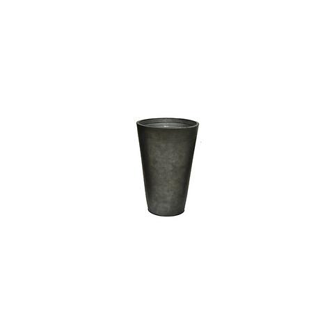 Zink krukke, antik mørk grå, rund, 48cm