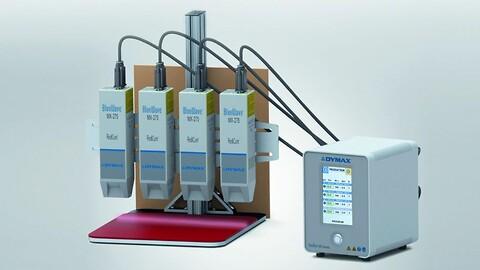 Højintensitets LED UV-hærdesystem med emitter, som producerer bestråling i linjer - Dymax MX-275 - Køb Dymax BlueWave MX-275 LED UV-hærder hos Diatom A/S