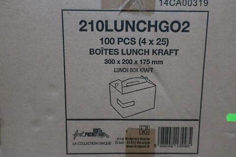 100 stk. takeaway kasse firstpack 210LUNCHGO2