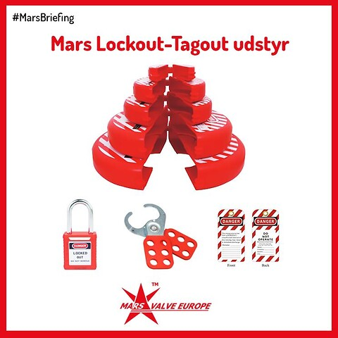LOCK OUT – TAG OUT ventiludstyr - Lockout-Tagout ventiludstyr
