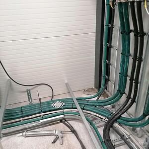 Lindner kraftgulv i tavlerum hos Høje-Taastrup Fjernvarme