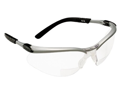 Sikkerhedsbrille bx reader +2.5 - 3M